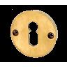 Schlüsselloch Rosette für Zimmertüren, Messing patiniert und unlackiert