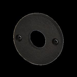 Drückerrosette rund, Gusseisen schwarz für Türgriffe