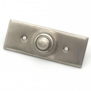 Jugendstil Klingel Nickel matt gebürstet | Klingelplatte mit Klingelknopf| Antik Klingel NM9161