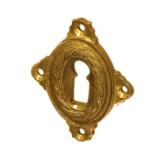 Rosette mit Buntbart Schlüsselloch P4711BB (Stückpreis) -- Farbfehler