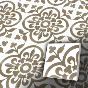 Zementfliesen antik, historischer Baustoff | Retro-Fliesen | Jugendstil | Design V20-052-B | Ventano