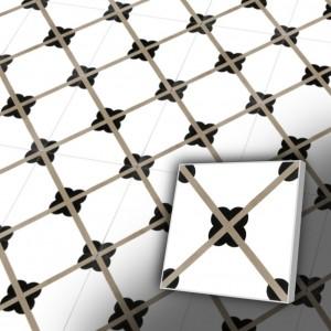 Zementfliesen antik, historischer Baustoff | Retrofliesen | Fliesen antik | Design V20-060-a | Ventano