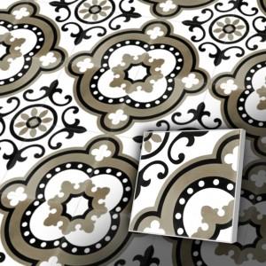 Zementfliesen antik, historischer Baustoff | Retro-Fliesen | Vintage | Design V20-134-a | Ventano