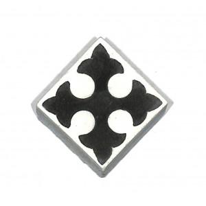 Zementfliesen antik, historischer Baustoff   Retro-Fliesen  Einleger  Muster V04-053-A   Ventano