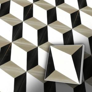 Zementfliesen antik, historischer Baustoff | Retro-Fliesen | Design V15-034-A | Ventano