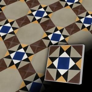 Zementfliesen antik, historischer Baustoff | Retro-Fliesen | Design V20-421-157 | Ventano