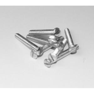 M5 vernickelte Messingschrauben mit kleinem Linsensenkkopf
