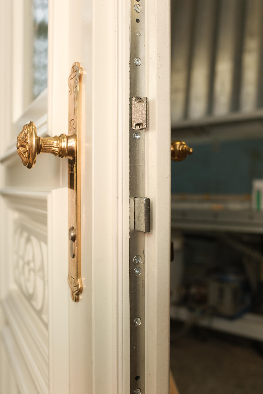 Antike Drückergarnitur Haustür mit Knauf oder fester Klinke | Ventano